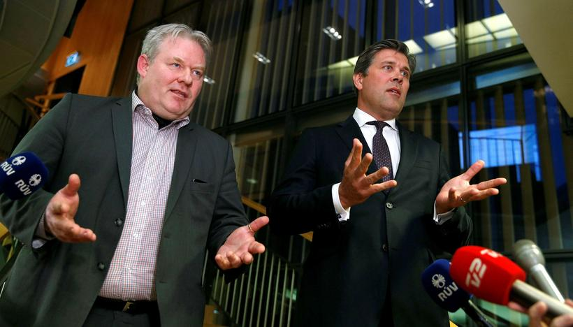 Leader of the Progressive Party Sigurður Ingi Jóhannsson (left) and ...