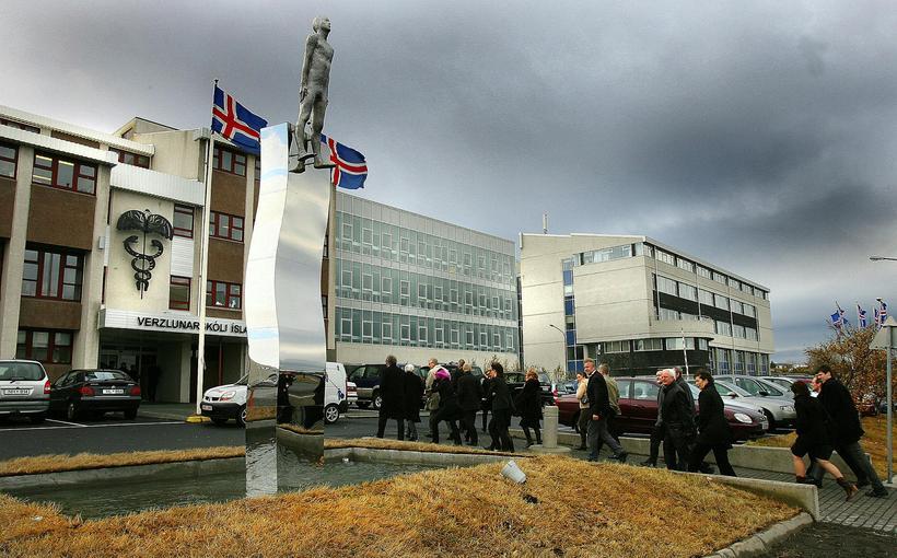 Í Verzlunarskólanum verður staðkennsla á lokametrum annarinnar.