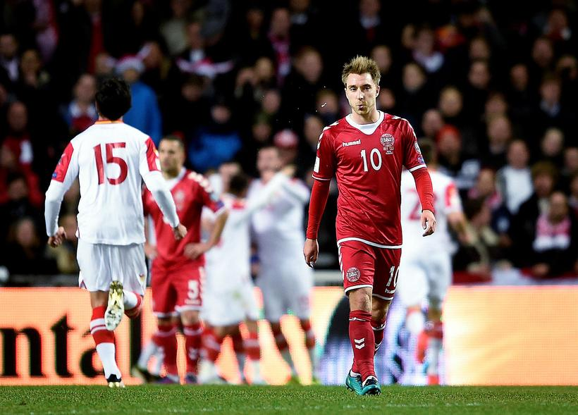 Denmark lost 1-0 at home to Montenegro in their World ...