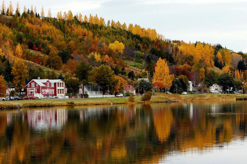 The North Iceland town of Akureyri as autumn wears on.