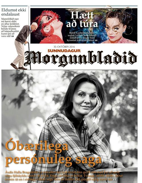 Forsíða Sunnudagsblaðs Morgunblaðsins um helgina.