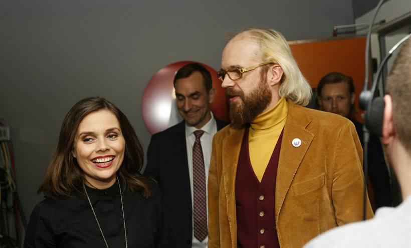 Katrín Jakobsdóttir, formaður Vinstri grænna. Flokkur hennar bætti mikið við ...