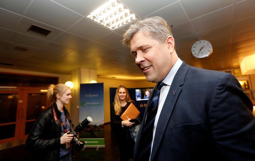 Bjarni Benediktsson ,formaður Sjálfstæðisflokksins. Flokkurinn er stærsti flokkur landsins með ...