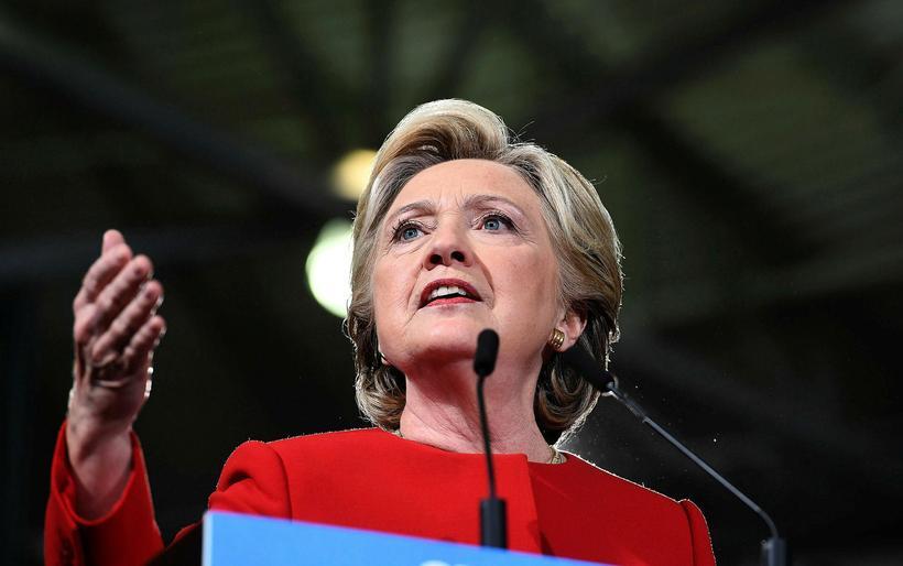 Hillary Clinton var forsetaframbjóðandi Demókrataflokksins í Bandaríkjunum árið 2016.