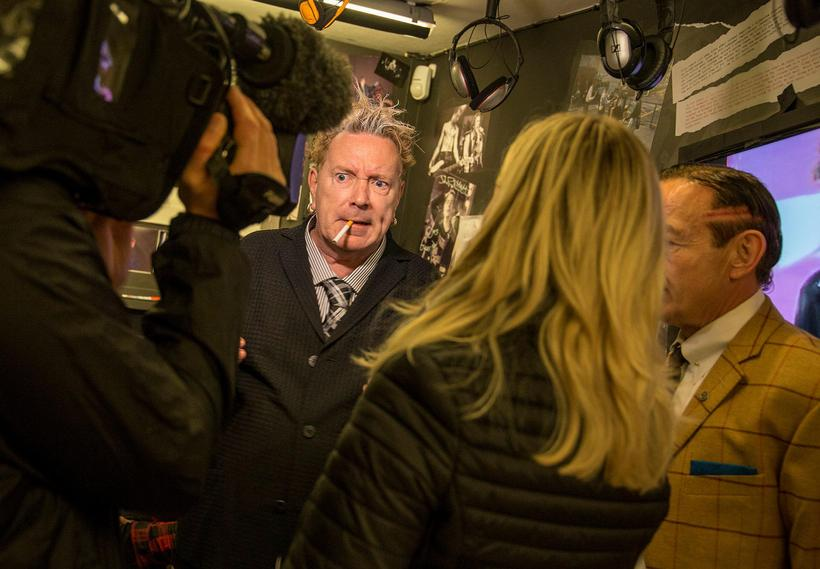 John Lydon at the Icelandic Punk Museum