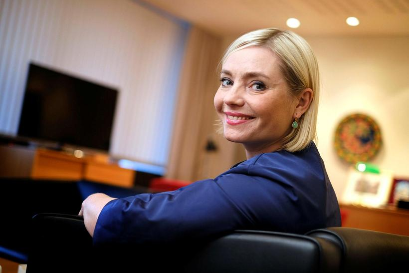 Lilja Alfreðsdóttir, vice-chairman of the Progressive Party and Iceland's former ...