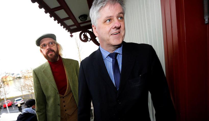 Bjarni Benediktsson, Óttarr Proppé og Benedikt Jóhannesson funda á óþekktum ...