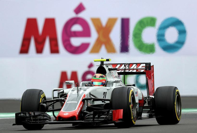 Esteban Gutierrez á heimavelli í Mexíkó.