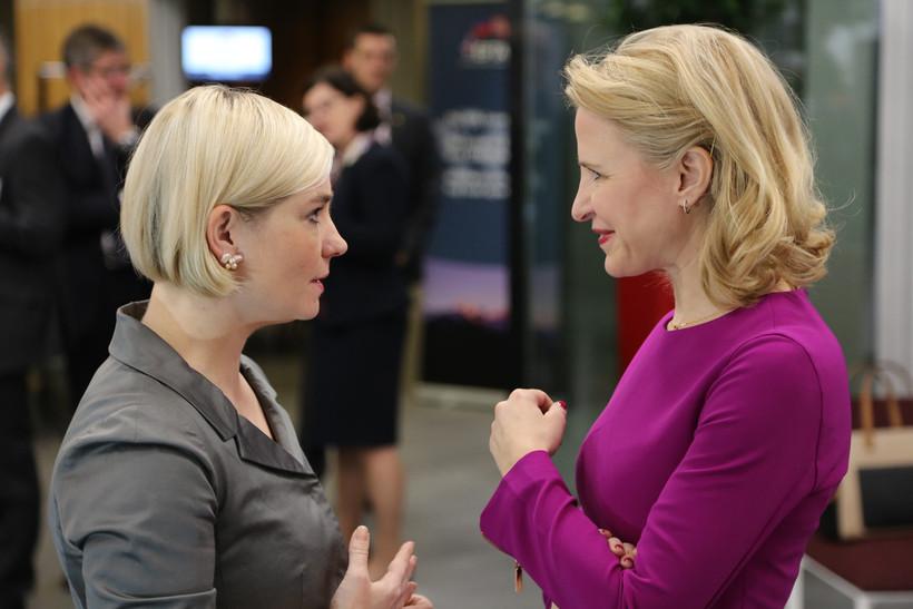 Lilja Alfreðsdóttir utanríkisráðherra og Aurelia Frick, utanríkisráðherra Liechtenstein.