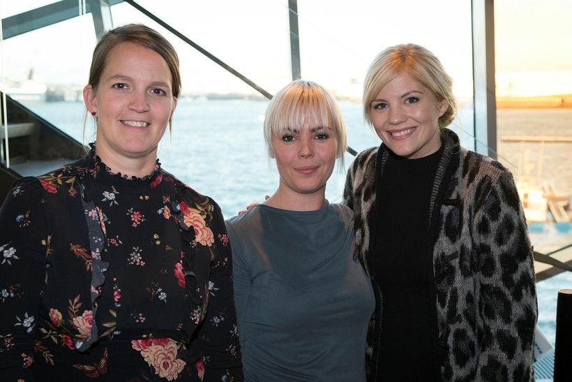 Dögg Hjaltalín, Anna Lea Friðriksdóttir og Eva Laufey Kjaran Hermannsdóttir.