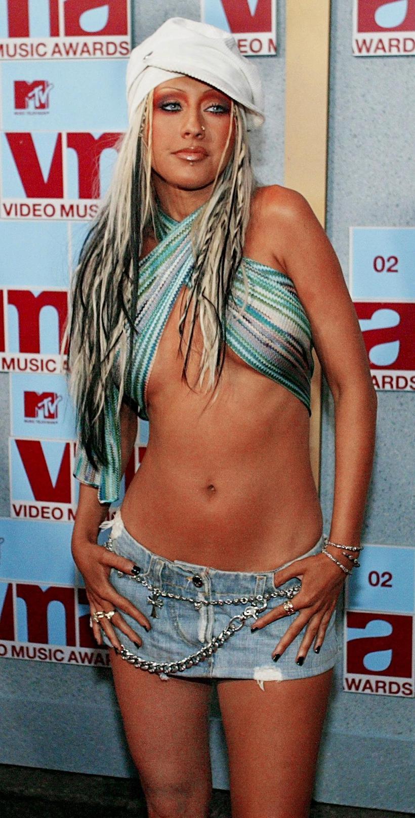Christina Aguilera á MTV-hátíðinni árið 2002.