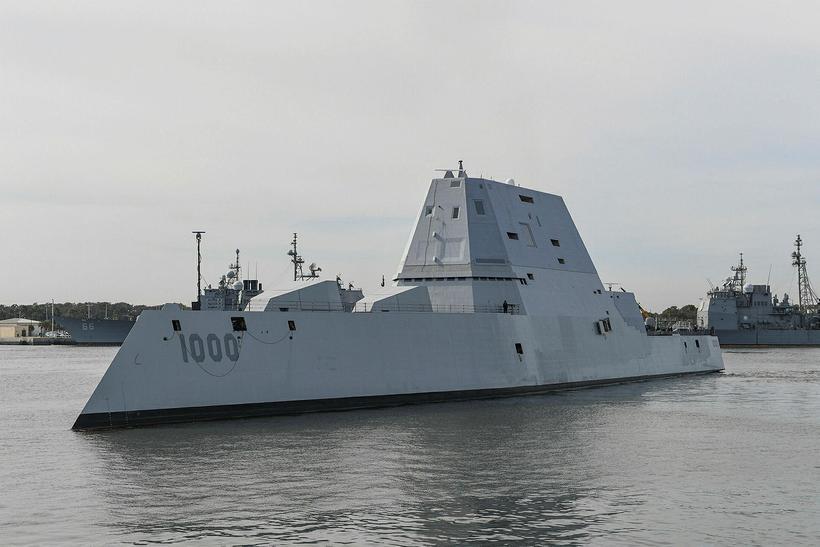 Herskipið USS Zumwalt er almennt virt sem það tæknilega fullkomnasta ...