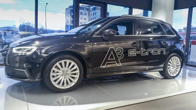 Tengiltvinnbíllinn Audi A3 e-tron, sem frumsýndur er á Vistvænum dögum ...