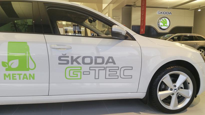 Skoda Octavia G-Tec gengur fyrir metani og bensíni og átti ...