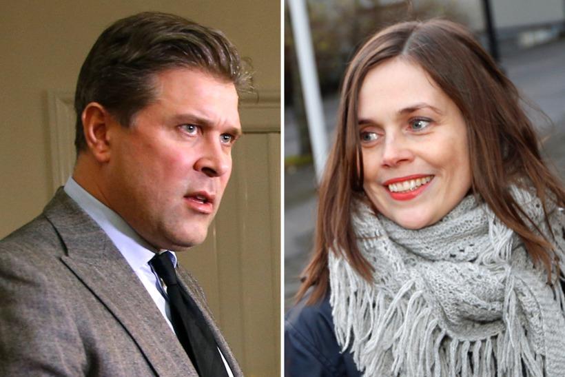 Bjarni Benediktsson and Katrín Jakobsdóttir.