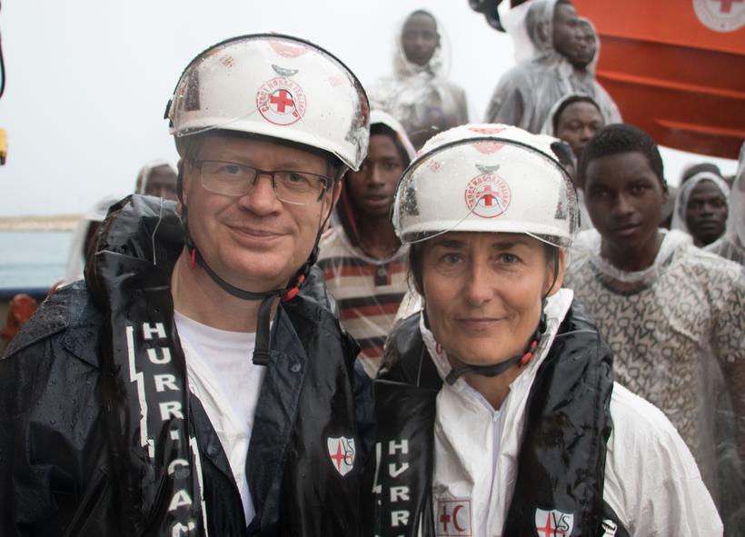 Þórir and Jóhanna were Red Cross representatives for Iceland in ...