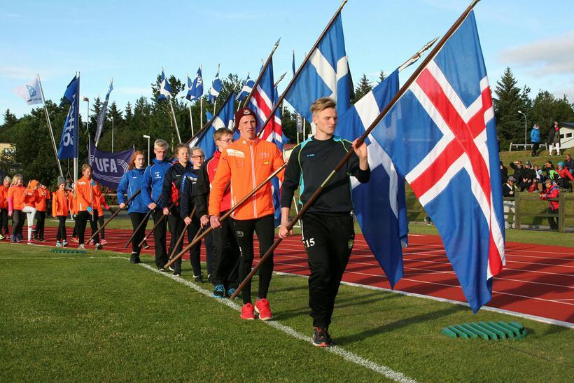 Frá setningu unglingalandsmóts UMFÍ sumarið 2016.