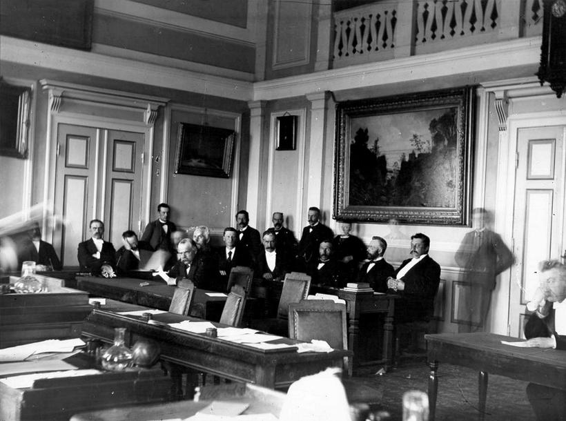 Iceland's parliament in 1903, when the country had home rule ...