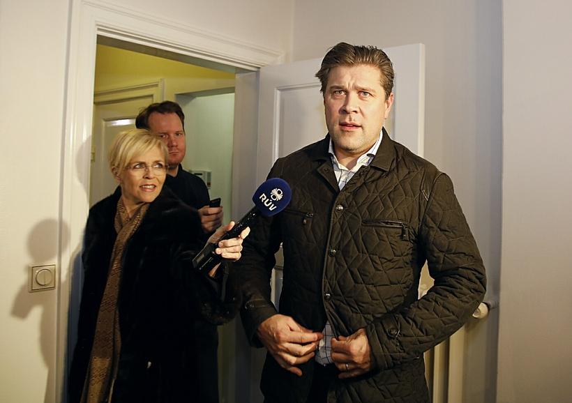 Bjarni Benediktsson ræddi við fjölmiðla eftir að hafa fundað með ...