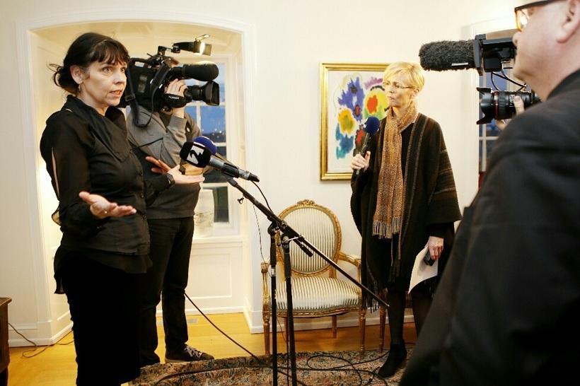 Birgitta á Bessastöðum í dag.
