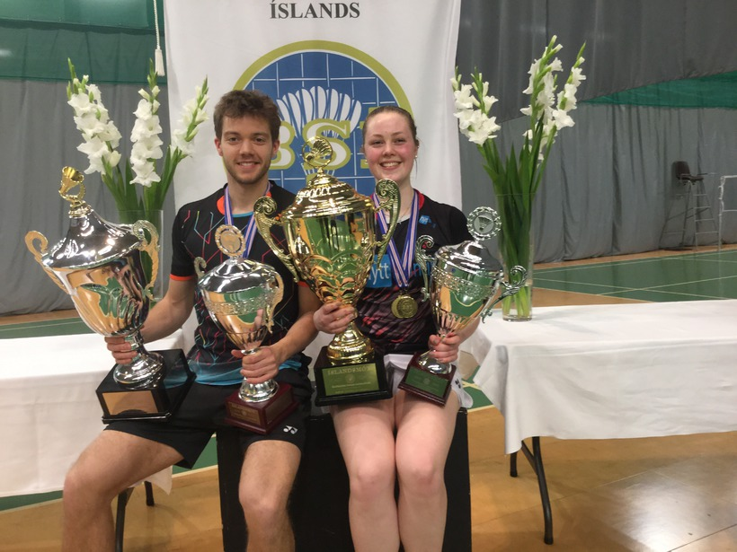 Kári Gunnarsson og Margrét Jóhannsdóttir, badmintonfólk ársins 2016.