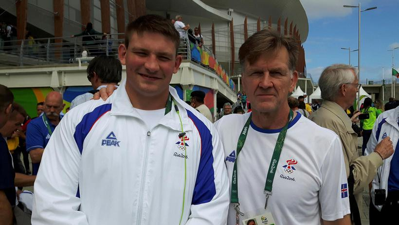 Bjarni Friðriksson (right) is now a judo coach for the …