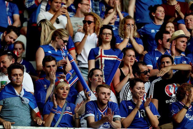 Icelandic fans at Euro 2016.