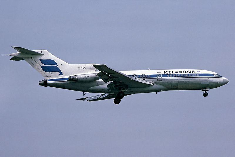 An Icelandair Boeing 727 of Icelandair in 1983.