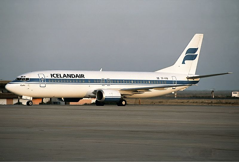 An Icelandair Boeing 737 in 1992.
