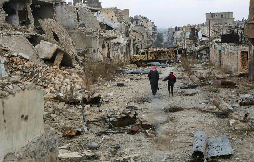 Desember 2016 í Aleppo.