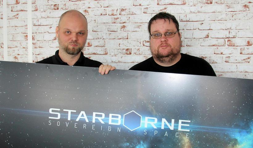 Stefán Gunnarsson og Hrafnkell Smári Óskarsson, stjórnendur Solid Clouds.