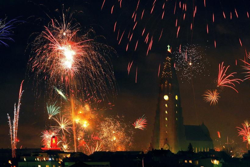 Most Icelanders buy fireworks on New Year's Eve.