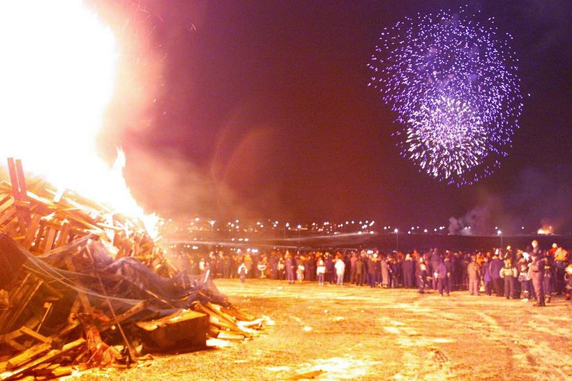 Seeing a bonfire is an important part of New Year's …