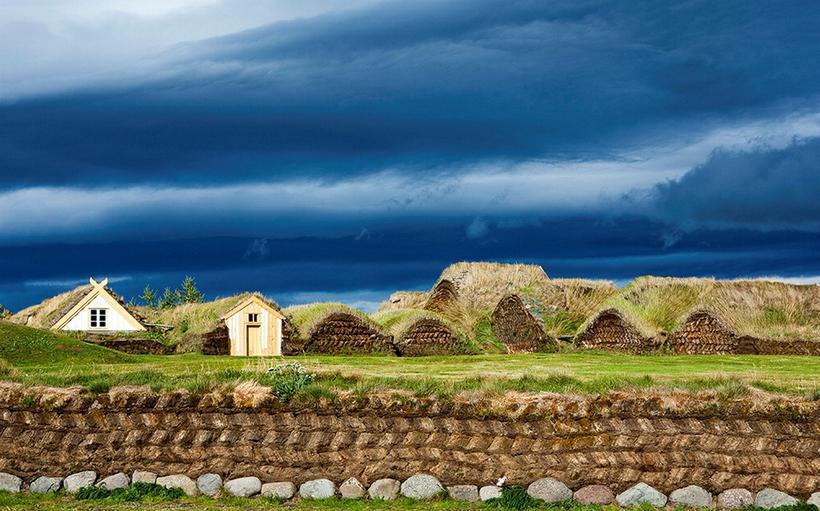 Glaumbær in Skagafjörður is one of the larger preserved turf …