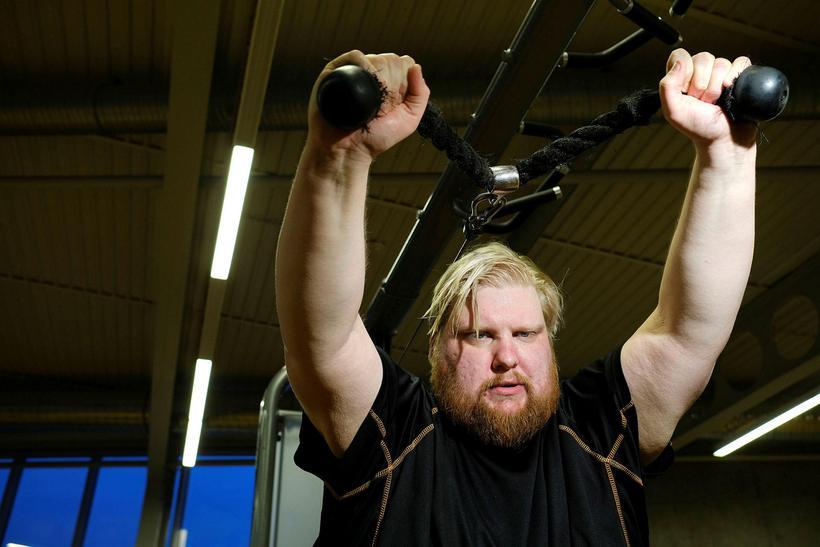Valdimar Guðmundsson er grjótharður í ræktinni. Mynd frá 2017.