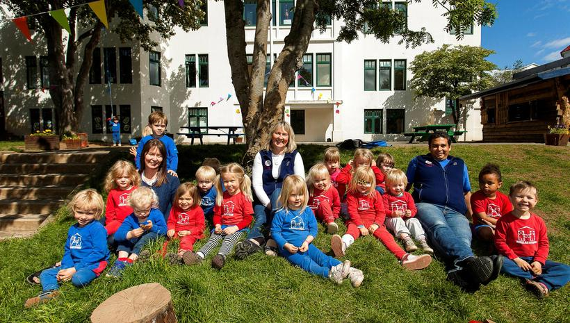 One of the Hjallastefna playschools, Laufásborg in the centre of ...