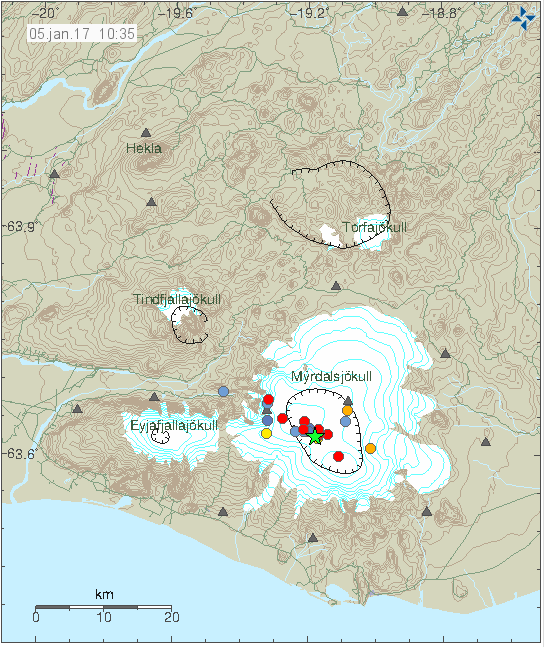 Earthquakes in the last 48 hours in Katla volcano underneath …