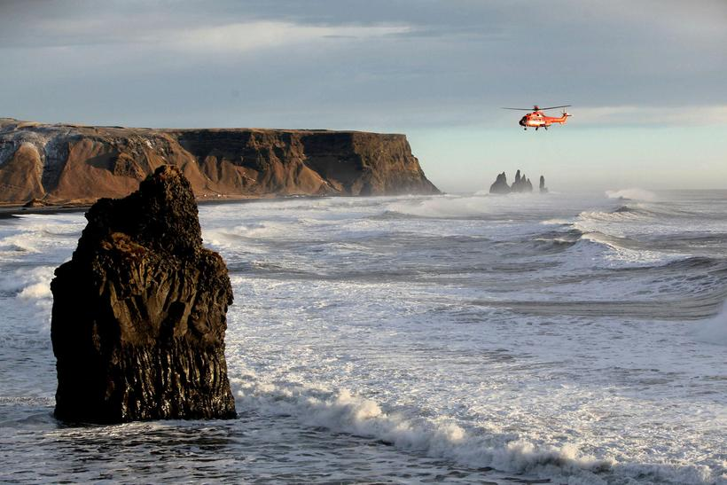Another At Iceland S Reynisfjara Beach The National Coastguard Helicopter Searching For Woman Today