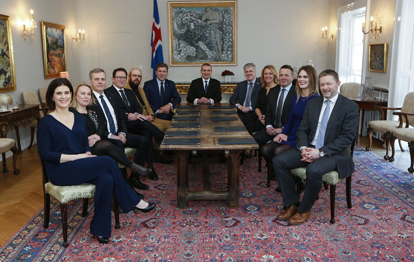 The new government of Iceland at the Bessastaðir Presidential residence ...
