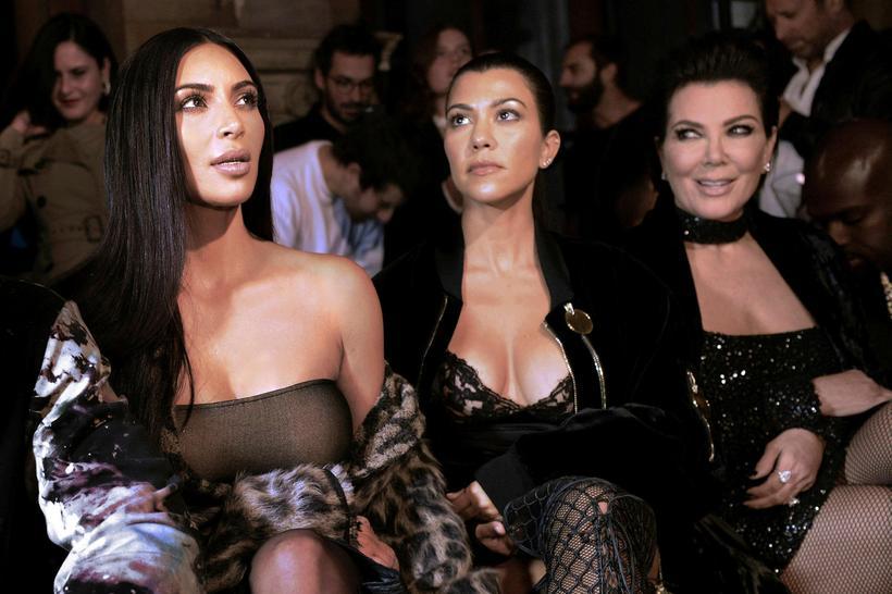 Kim Kardashian, Kourtney Kardashian og Kris Jenner.