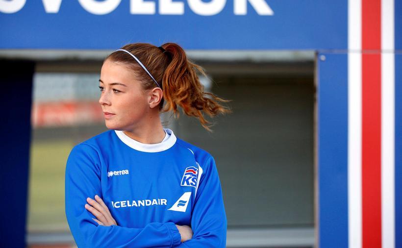 Sandra María Jessen á að baki 17 landsleiki fyrir Ísland.