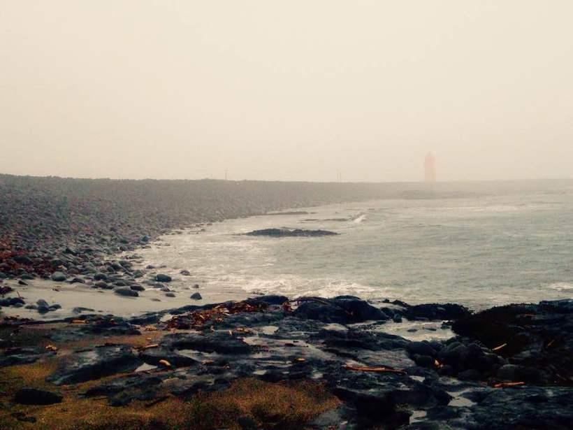 Birna Brjánsdóttir was found dead on this beach west of …