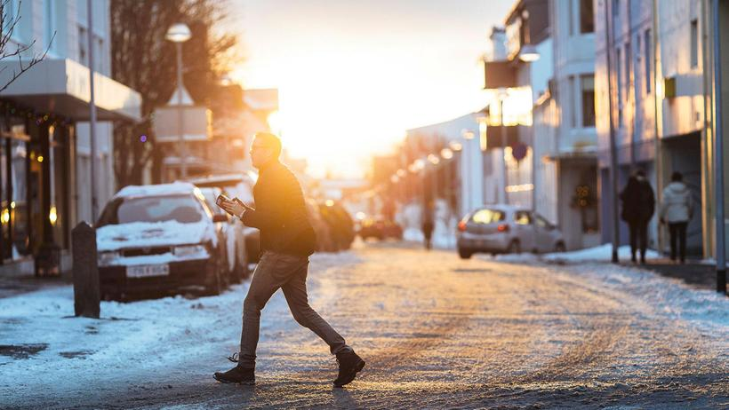 Temperature in winter in Reykjavik is similar to that of …