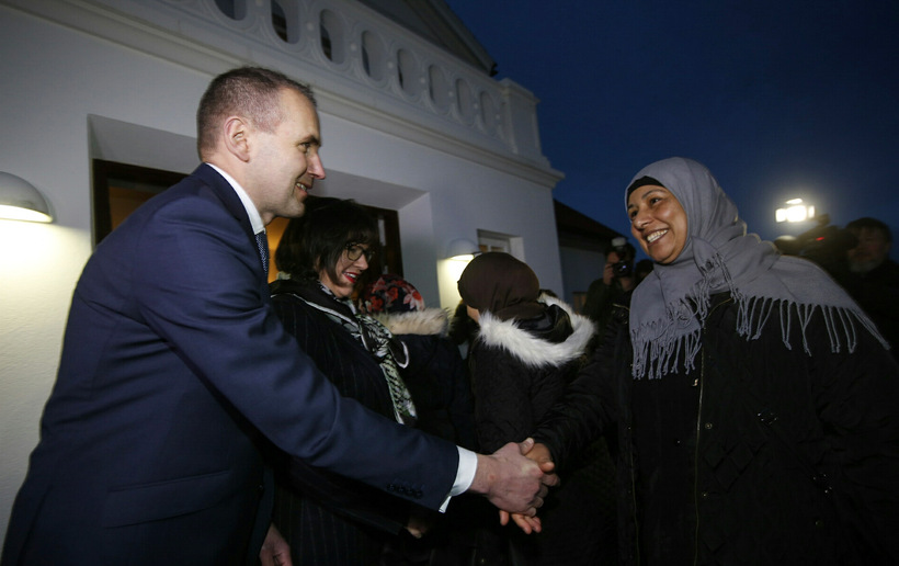 President Jóhannesson offered a heartfelt welcome to Syrian families who ...