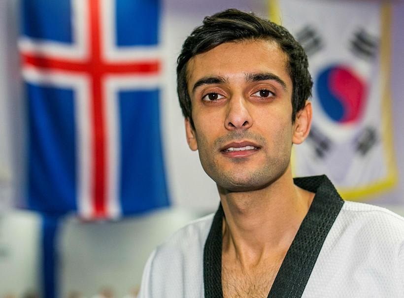 Icelandic citizen Meisam Rafiei is a tae kwon do champion ...