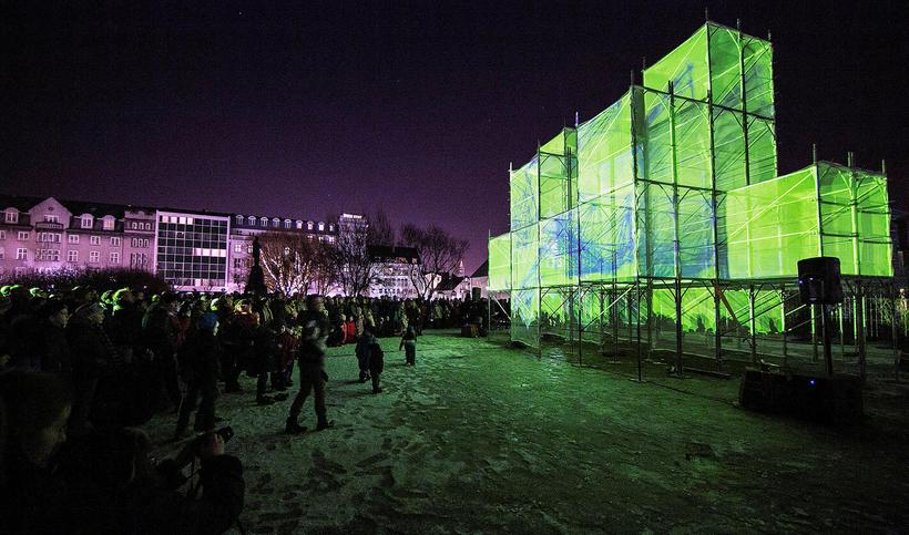 The opening piece at the Winter Lights festival in 2016.