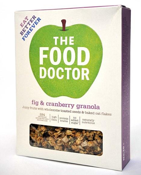 The Food Doctor línan inniheldur eina tegund af granóla án ...