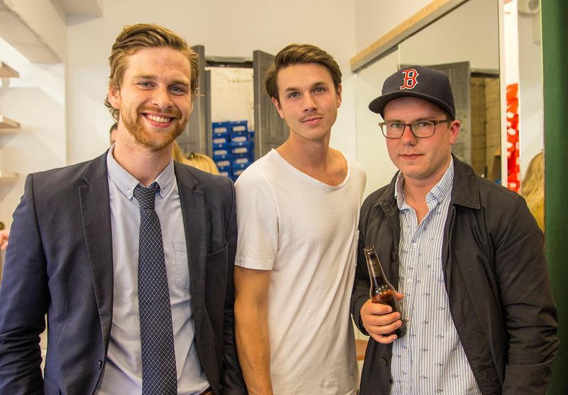 Aron Leví Bec, Stefán Pálsson and Hörður Gunnarsson.