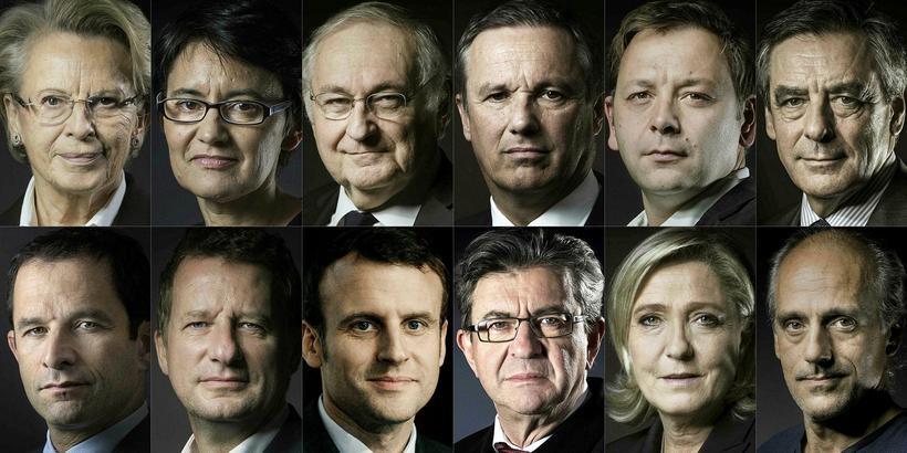Forsetaframbjóðendur í Frakklandi: Michele Alliot-Marie,Les Republicains (LR) hægri flokknum, Nathalie ...