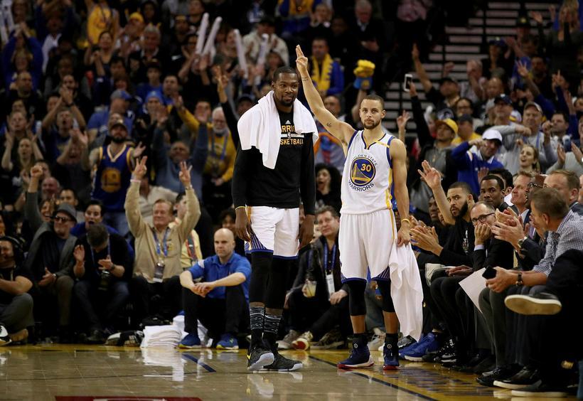 Kevin Durant og Stephen Curry